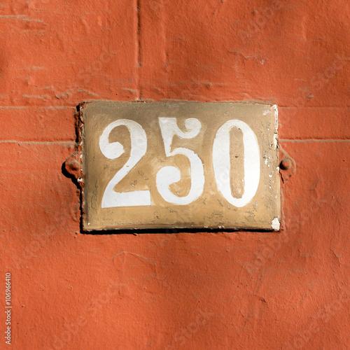 Fotografia  Number 250