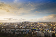 View Of The City Of Edinburgh From Salisbury Crags