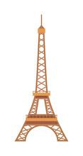 Eiffel Tower Paris France Landmark Architecture Vector Illustration.