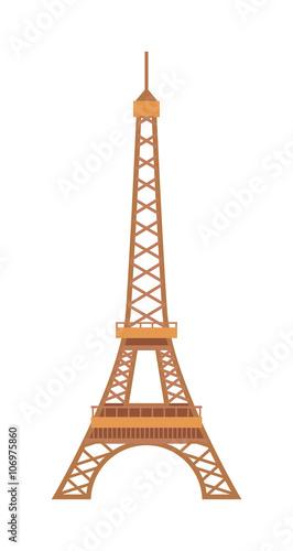 Cuadros en Lienzo Eiffel Tower Paris France landmark architecture vector illustration