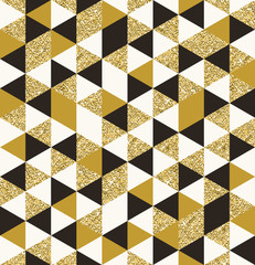 Fototapeta Geometric pattern composed of triangular elements - vector seamless background