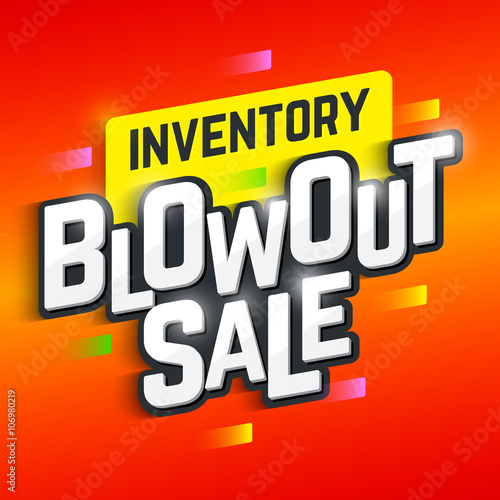 Inventory Blowout Sale banner. Special offer, big sale, clearance Wallpaper Mural