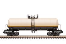 Railroad Tank Car On Track
