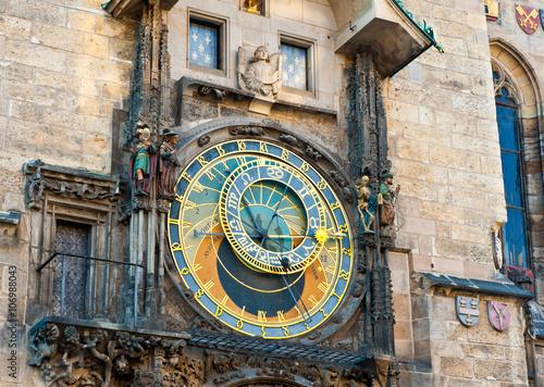 Staande foto Praag The Prague astronomical clock (Prague orloj), Czech Republic