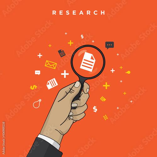 Fotografija  business research concepts square