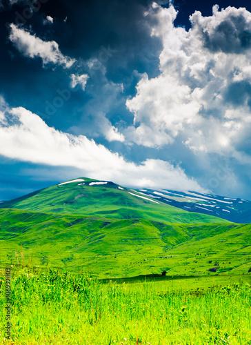 In de dag Lime groen Beautiful landscape of Armenia, before the rain