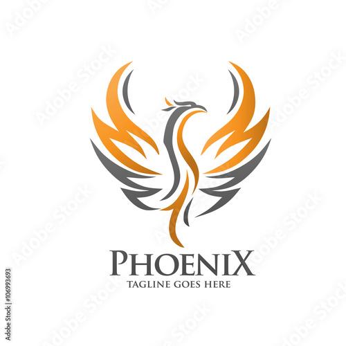 Fototapeta premium logo feniksa