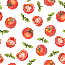 Seamless Wallpaper With Tomato...