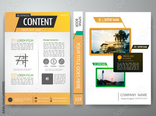 vector brochure magazine modern flyers cove annual report design