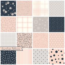 Seamless Pattern Blush Set