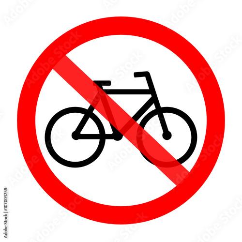 znak zakaz dla rowerów