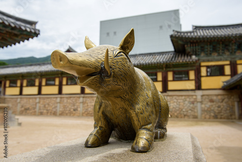 Golden pig at Bulguksa  temple
