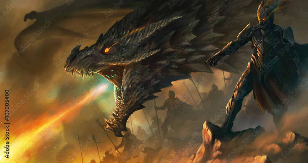 Fototapeta dragon master