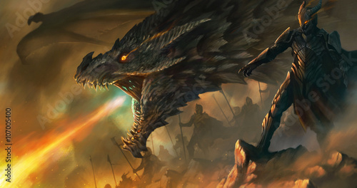dragon master Tablou Canvas