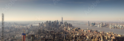Tuinposter Donkergrijs New York Skyline Manhattan