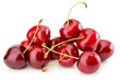 sweet cherries isolated on the white background