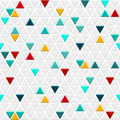 Obraz na Szkle Skandynawski Seamless pattern of small triangles