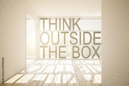 Fotografie, Obraz  Thinking outside the box