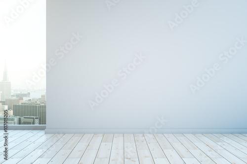 Obraz Blank white wall - fototapety do salonu