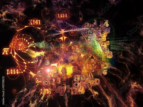 Foto op Aluminium Nacht snelweg Evolving Math Visualization