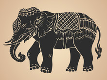 Black War Elephant - Thai Trad...