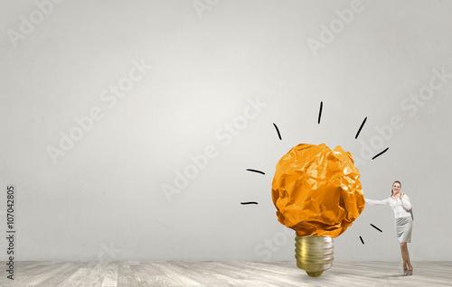 Fototapeta Creativity is her power obraz na płótnie