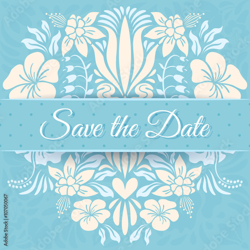 Keuken foto achterwand Vlinders in Grunge Save the Date Card