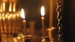 burning candles in the Church lampstands
