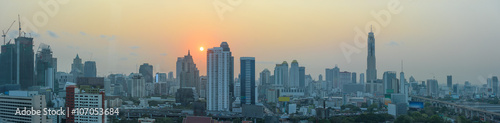 Bangkok at sunset