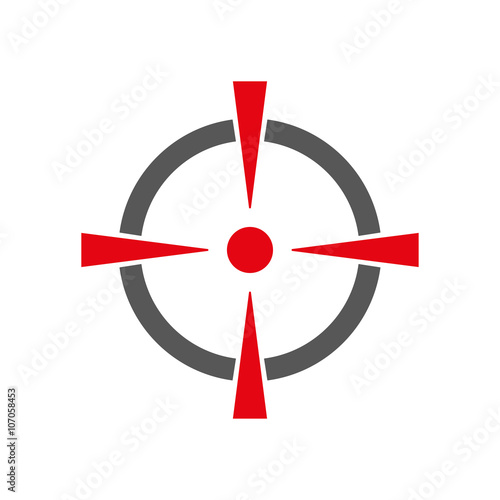 Fotografía  Red aim vector illustration