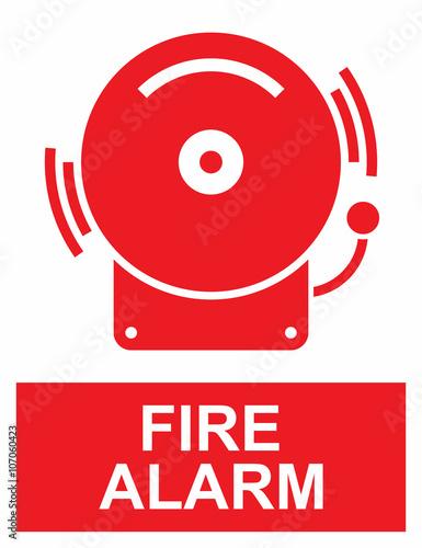 Fototapeta Fire alarm sign