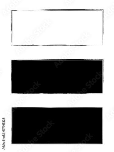 Fotografie, Obraz  Grunge black frame vector background set