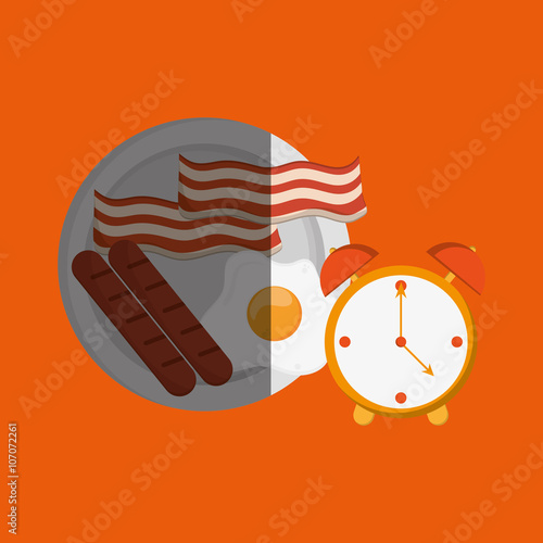 Breakfast design , vector illustration Fototapete