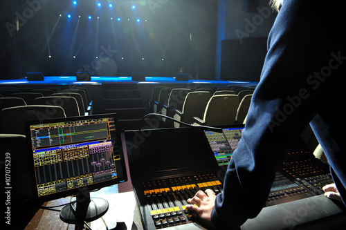 Obraz Free stage with lights - fototapety do salonu