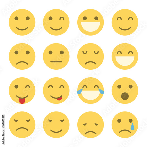 Photo  Emoji faces icons
