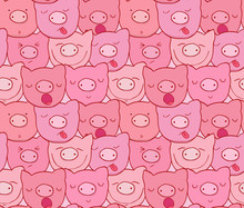 The Pattern Of The Muzzles Of Piglets