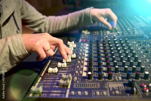 Fotografie, Obraz  Professional audio mixing console