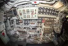 Submarine Control Room Interior View