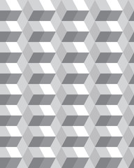 Fototapeta Skandynawski Geometric gray hexagon seamless pattern, vector