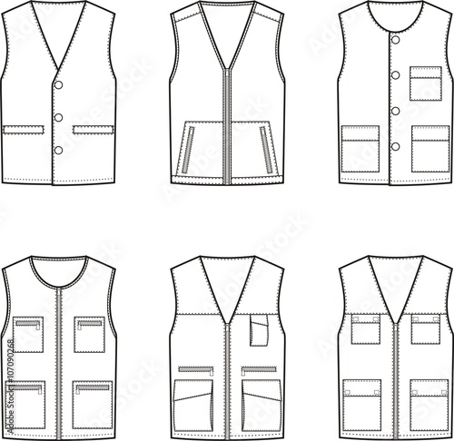 Fotografía Work vest set