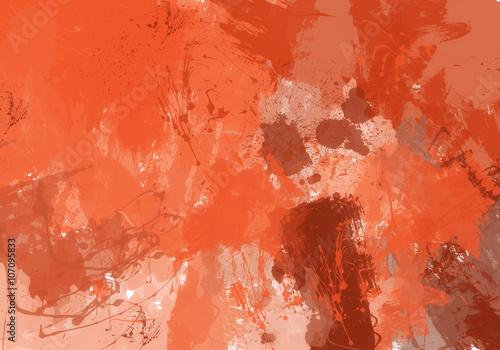 plakat Fondo de manchas de pintura naranja