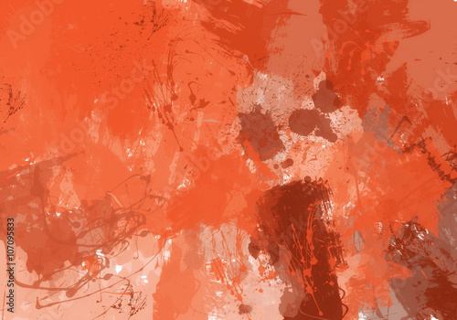 mata magnetyczna Fondo de manchas de pintura naranja