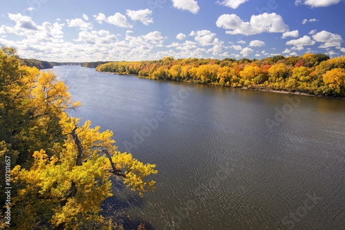 Printed kitchen splashbacks River Autumn colors along the Mississippi River, Minnesota