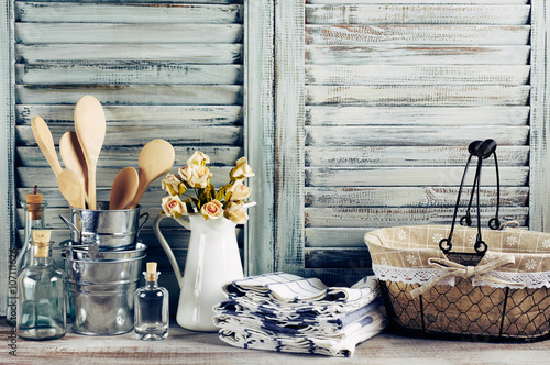 Fotomural Rustic kitchen still life