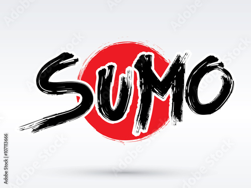 Láminas  Sumo text, brush, graphic vector.