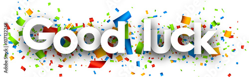 Fotografía Good luck paper background.