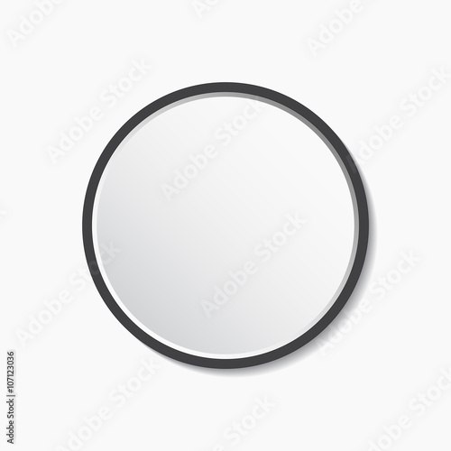 Round Mirror With Frame Vector Ilration