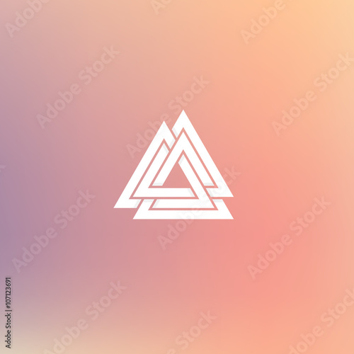 Fotografia  Geometric element, connected triangles, vector illustration