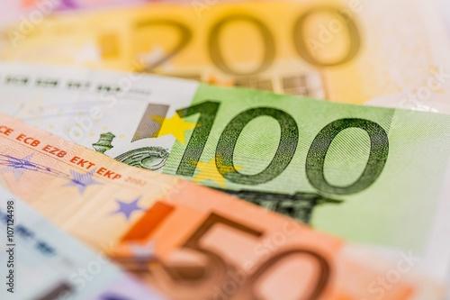Fotografía  Viele verschiedene Euro-Geldscheine