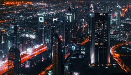 Lotniczy łeb Sheikh Zayed Road w Dubaju